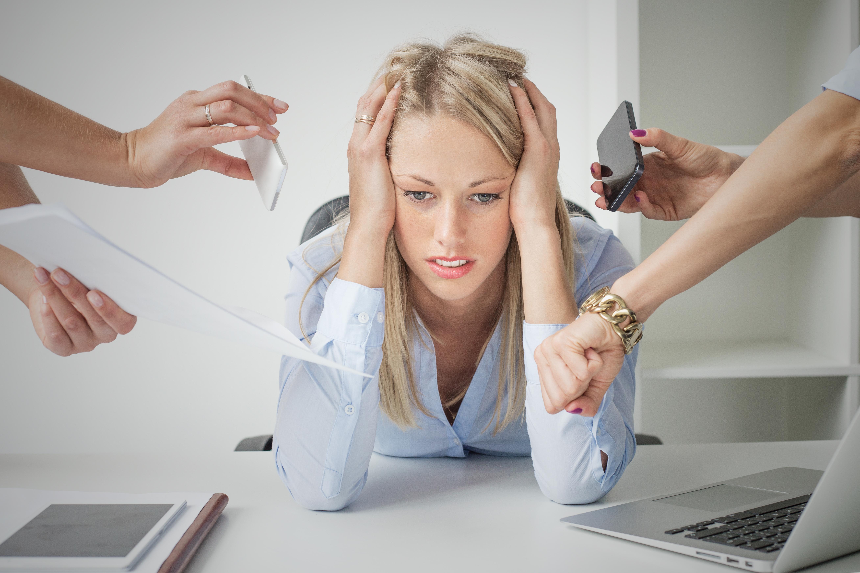 bigstock Depressed business woman 100462265
